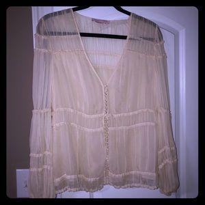 Vintage BCBG Cream silk blouse